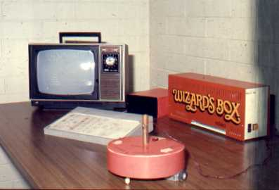 OZNAKI System -  microprocessor Wizard's Box, Zonky robot, adapted TV as monitor